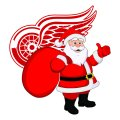 Detroit Red Wings Santa Claus Logo decal sticker