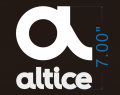 Altice Jersey logo 7in iron on sticker