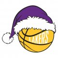 Los Angeles Lakers Basketball Christmas hat decal sticker