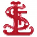 st. louis cardinals crystal logo iron on sticker