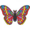Butterfly DIY iron on stickers (heat transfer) version 24