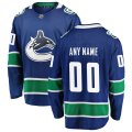 Vancouver Canucks Custom Letter and Number Kits for Blue Jersey