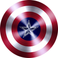 captain american shield with dallas cowboys logo iron on transfer