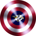 captain american shield with nashville predators logo decal sticker