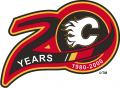 Calgary Flames 1999 00 Anniversary Logo decal sticker