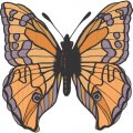 Butterfly DIY iron on stickers (heat transfer) version 11