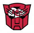 Autobots Kansas City Chiefs logo decal sticker