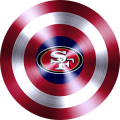captain american shield with san francisco 49ers logo iron on transfer