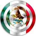 CAPTAIN AMERICA MEXICO Flag decal sticker