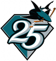 San Jose Sharks 2015 16 Anniversary Logo 02 iron on transfer
