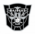Autobots Oakland Raiders logo decal sticker