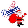 Los Angeles Dodgers Santa Claus Logo iron on transfer