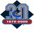 Vancouver Canucks 1999 00 Anniversary Logo iron on transfer