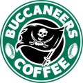 tampa bay buccaneers starbucks coffee logo decal sticker