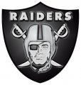 oakland raiders 1995-pres primary plastic effect logo iron on transfer