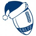 Indianapolis Colts Football Christmas hat iron on transfer