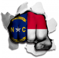 hulk North Carolina State Flag decal sticker