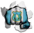 hulk GUATEMALA Flag decal sticker