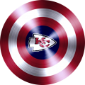 captain american shield with kansas city chiefs logo iron on transfer
