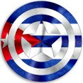 CAPTAIN AMERICA CUBA Flag decal sticker
