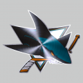 San Jose Sharks Stainless steel logo decal sticker
