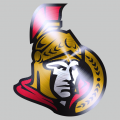 Ottawa Senators Stainless steel logo decal sticker