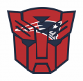 Autobots New England Patriots logo decal sticker