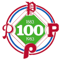 Philadelphia Phillies 1983 Anniversary Logo decal sticker