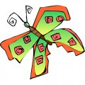 Butterfly DIY iron on stickers (heat transfer) version 29