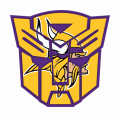 Autobots Minnesota Vikings logo decal sticker