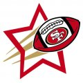 San Francisco 49ers Football Goal Star iron on transfer