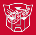 Autobots Detroit Red Wings logo decal sticker