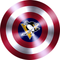 captain american shield with pittsburgh penguins logo decal sticker
