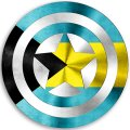 CAPTAIN AMERICA BAHAMAS Flag decal sticker