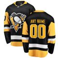 Penguins adidas Custom Letter and Number Kits for Black home Jersey