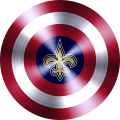 captain american shield with new orleans saints logo iron on transfer
