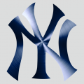 New York Yankees Stainless steel logo decal sticker