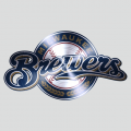 Milwaukee Brewers Stainless steel logo iron on transfer