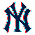 Phantom New York Yankees logo decal sticker