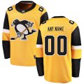 Penguins adidas Custom Letter and Number Kits for Gold Jersey