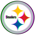Phantom Pittsburgh Steelers logo iron on transfer