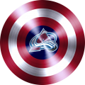 captain american shield with colorado avalanche logo decal sticker
