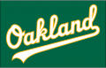 Oakland Athletics 2018-Pres Jersey Logo iron on transfer