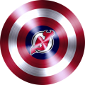 captain american shield with new jersey devils logo decal sticker