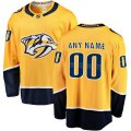 Nashville Predators Custom Letter and Number Kits for Gold home Jersey