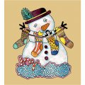 Personalized Christmas Snowman DIY decals stickers 2