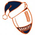 Denver Broncos Football Christmas hat iron on transfer
