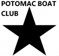 POTONAC BOAT CLUB WITH STAR iron on sticker