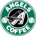 los angeles angels of anaheim starbucks coffee logo iron on transfer