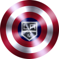 captain american shield with los angeles kings logo decal sticker